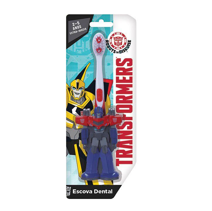 Escova dental Infantil Cerdas Macias  Transformers 3D - Optmus Prime