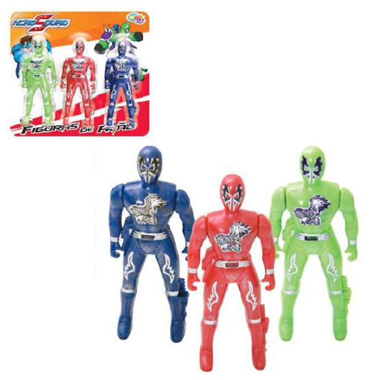 KIT 3 BONECOS RANGER HERO SQUAD