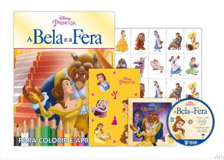 KIT 5 EM 1 A BELA E A FERA DISNEY - COM DVD EXCLUSIVO