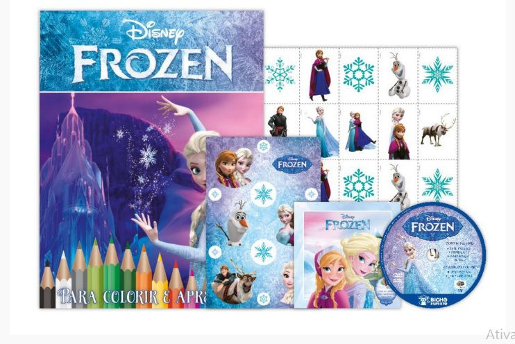 KIT 5 EM 1 FROZEN DISNEY - COM DVD EXCLUSIVO