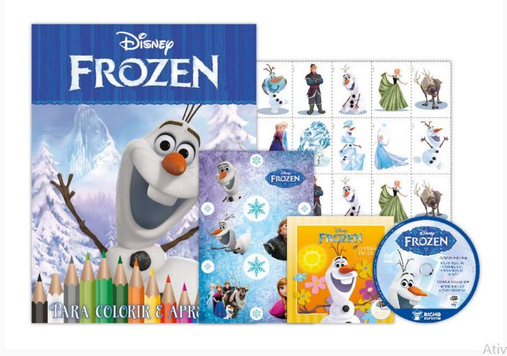 KIT 5 EM 1 OLAF FROZEN DISNEY - COM DVD EXCLUSIVO