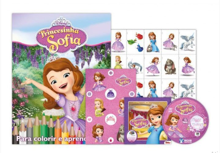 KIT 5 EM 1 PRINCESA SOFIA DISNEY - COM DVD EXCLUSIVO