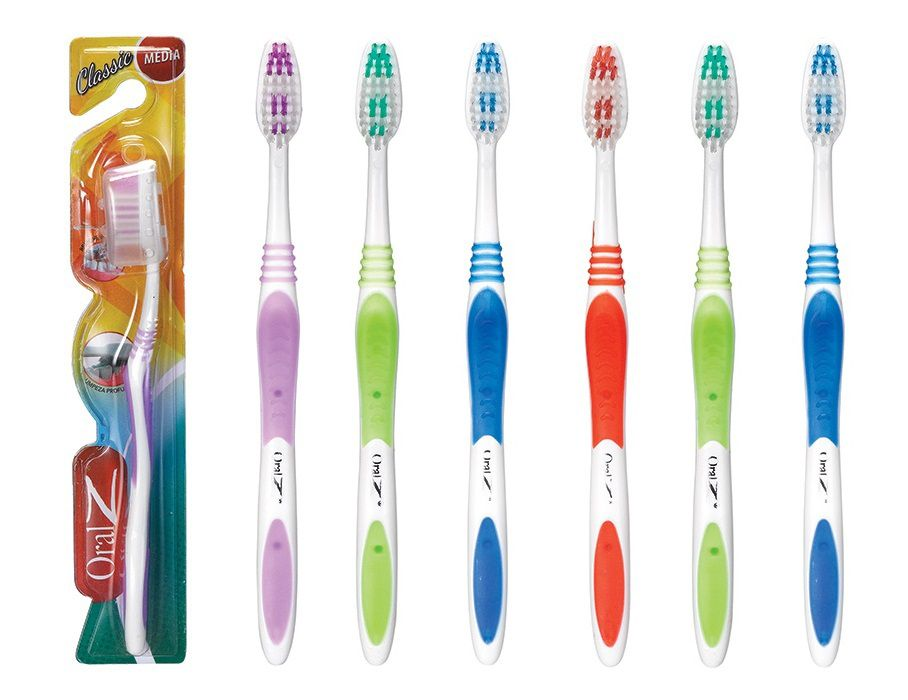 Kit 6 Escova Dental Classic Adulto Cerdas Média OralZ