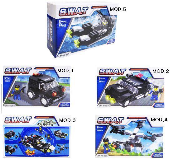Kit Blocos de Montar Veículos de Guerra 4 em 1