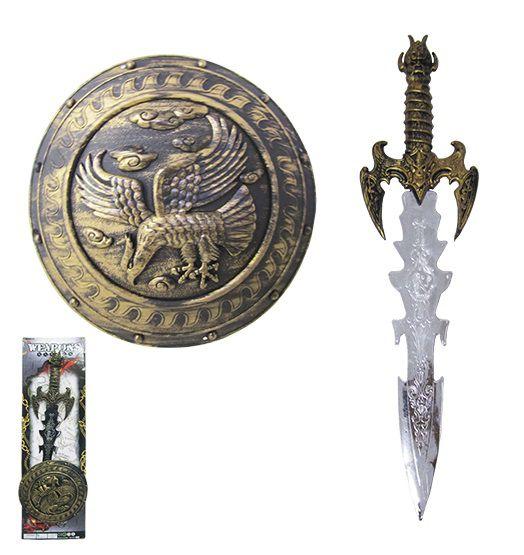 Kit Brinquedo Medieval com  Espadas e Escudo Weapons Series