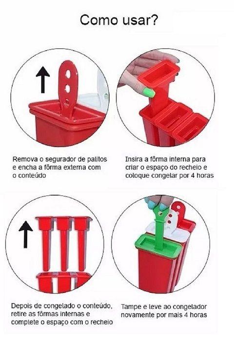 FORMAS DE PALETAS MEXICANAS RECHEADAS COM 4 CAVIDADES