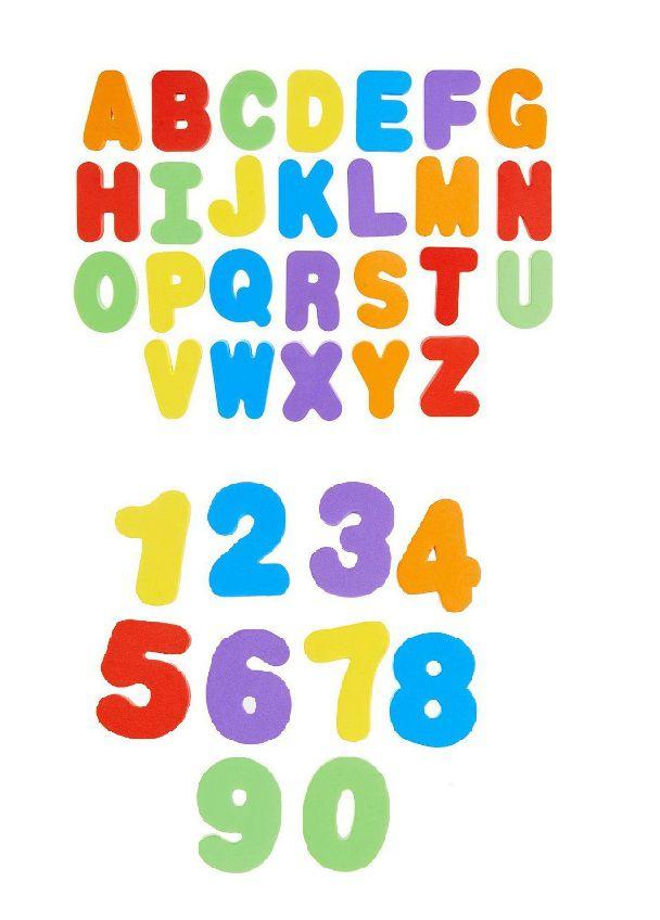 Kit E.V.A Letras e Números Grandes e Coloridas com 36 Peças