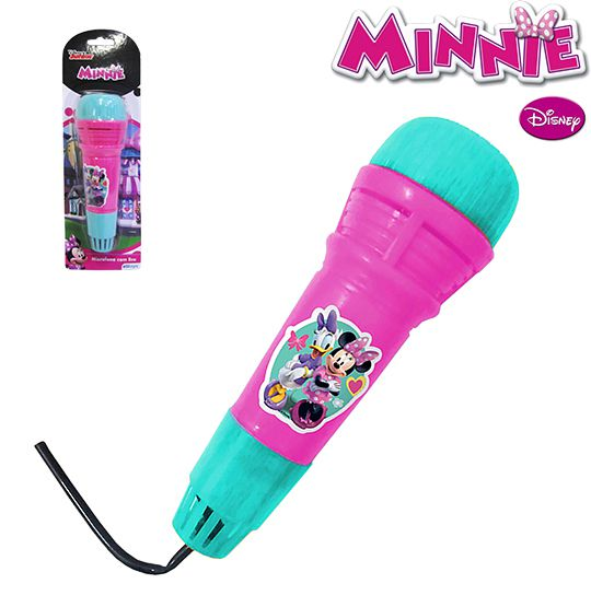 MICROFONE INFANTIL COM ECO DIVERTIDO - MINNIE