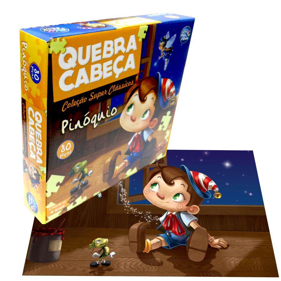 QUEBRA-CABEÇA PINÓQUIO 80 PEÇAS - PAIS & FILHOS
