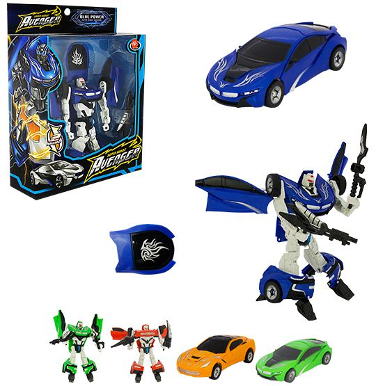 ROBÔ TRANSFORME CARRO HERO SQUAD WARRIOR
