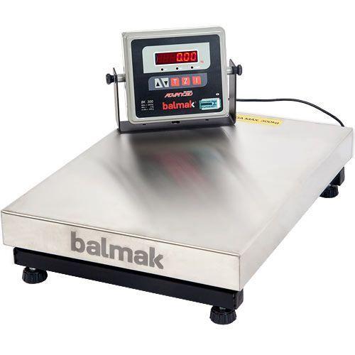 Balança Balmak BK-300I1B 300Kg Inox c/ Bateria - Selo INMETRO