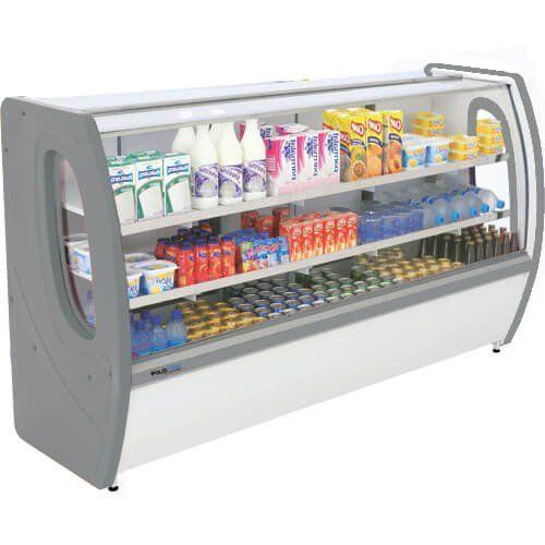 Balcão Refrigerado Premium 1,80m Vidro Semi Curvo - Polofrio  - Automasite