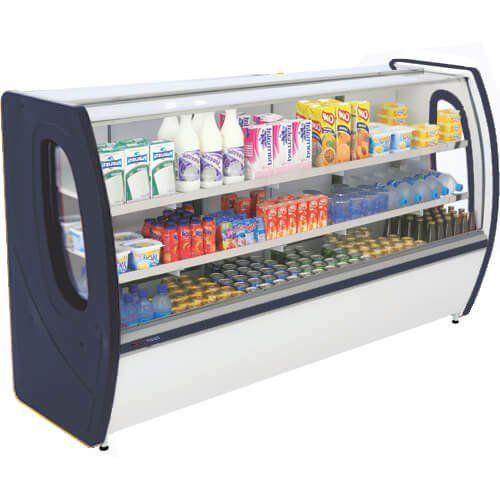 Balcão Refrigerado Premium 1m Vidro Semi Curvo - Polofrio