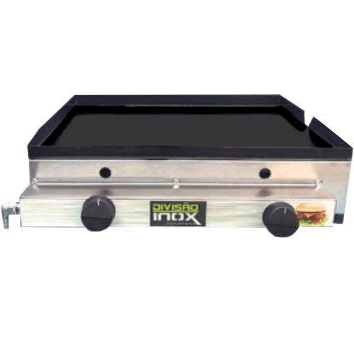 Chapa a Gás 2 Queimadores Ital Inox Flash CBDI-540