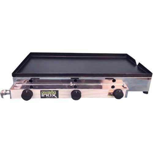 Chapa a Gás 3 Queimadores Ital Inox Flash CBDI-740