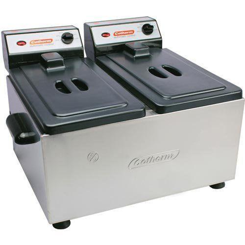 Fritadeira Elétrica 2 Cubas Inox 2x2L Cotherm 127V  - Automasite