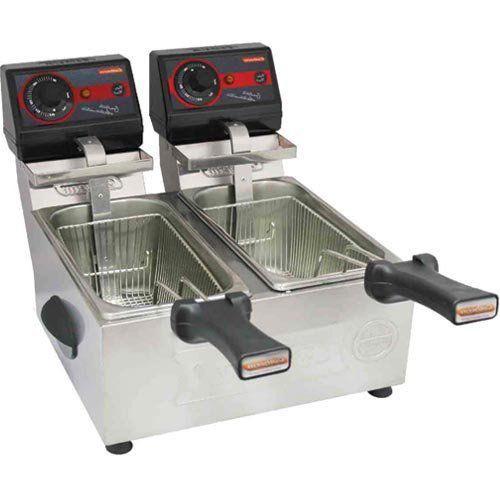 Fritadeira Elétrica 2 Cubas Inox 2x3L Cotherm Frita Fácil 127V  - Automasite