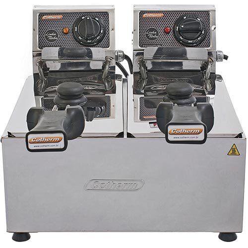 Fritadeira Elétrica 2 Cubas Inox 2x3L Cotherm Turbo 220V  - Automasite