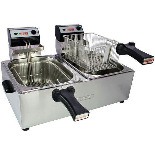 Fritadeira Elétrica 2 Cubas Inox 2x5L Cotherm 127V