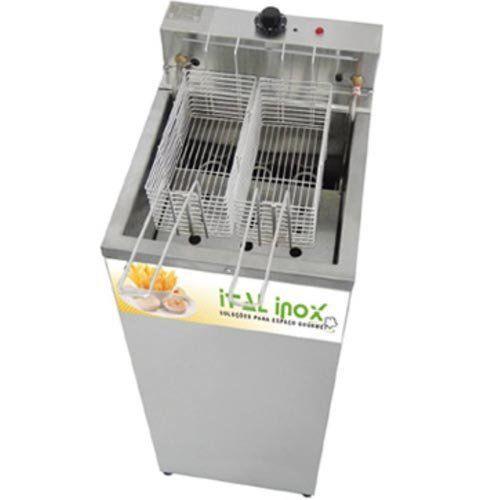 Fritadeira Elétrica Água e Óleo 1 Cuba Inox Ital Inox FAOCI-18 220V