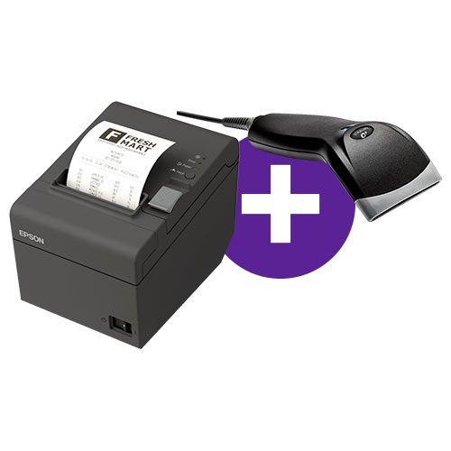 Kit Impressora TM-T20 Epson + Leitor BR-400 Bematech