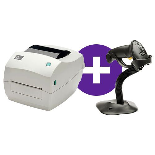 Kit Impressora GC420t + Leitor LS2208 c/ Suporte - Zebra