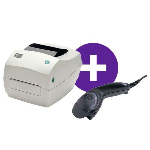 Kit Impressora GC420t Zebra + Leitor MS5145 Honeywell