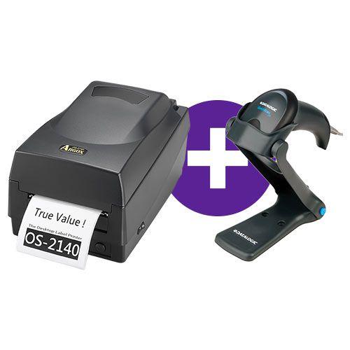 Kit Impressora OS-2140 Argox + Leitor QW2100 c/ Suporte Datalogic