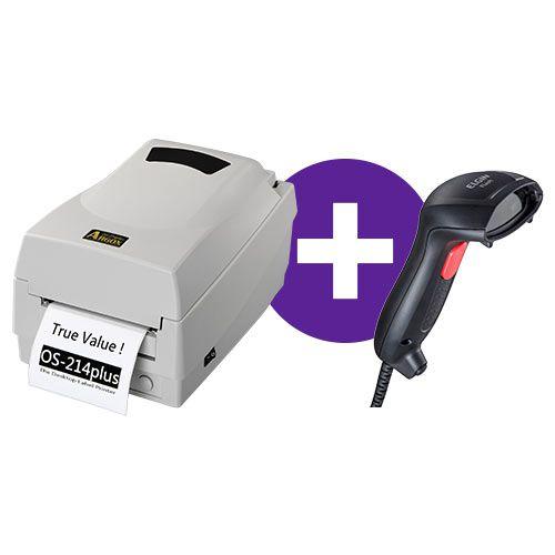 Kit Impressora OS-214 Plus Argox + Leitor Flash Elgin