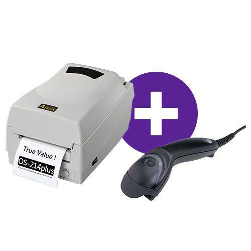 Kit Impressora OS-214 Plus Argox + Leitor MS5145 Honeywell