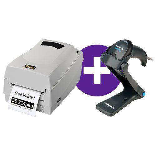 Kit Impressora OS-214 Plus Argox + Leitor QW2100 c/ Suporte Datalogic