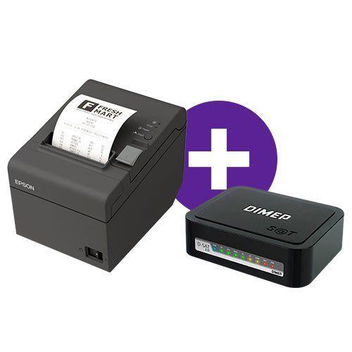 Kit Impressora TM-T20 Epson + SAT Fiscal D-SAT 2.0 Dimep