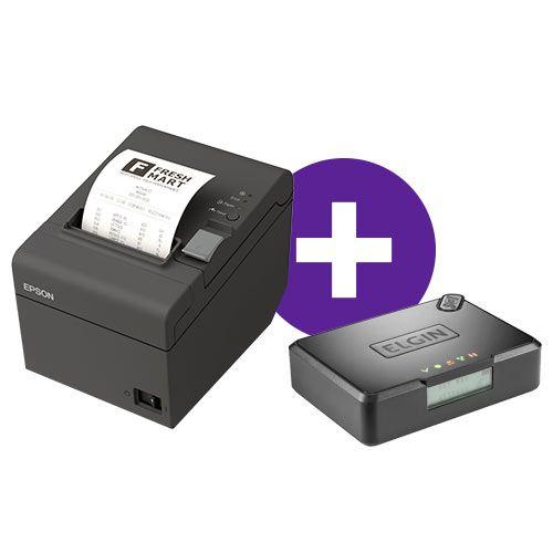 Kit SAT Fiscal Smart Elgin + Impressora TM-T20 Epson
