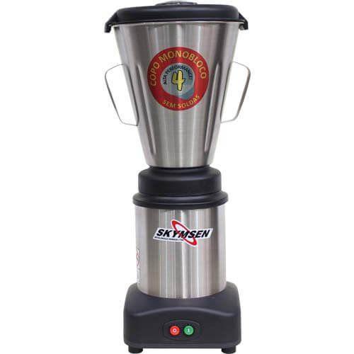 Liquidificador Inox 4L Copo Monobloco Skymsen LS-04MB-N 127V