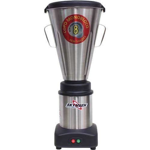 Liquidificador Inox 8L Copo Monobloco Skymsen LS-08MB-N 127V