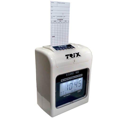 Relógio de Ponto Cartográfico Trix Tecnologia X Card-400  - Automasite
