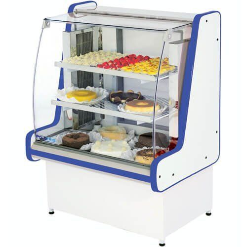 Vitrine Refrigerada Pop Luxo 1,25m Vidro Reto - Polofrio  - Automasite