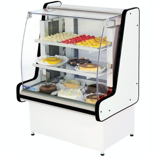 Vitrine Refrigerada Pop Luxo 1,25m Vidro Semi Curvo - Polofrio