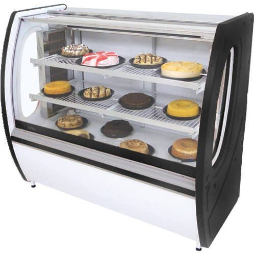 Vitrine Refrigerada Premium 1,25m Vidro Semi Curvo - Polofrio