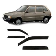 Calha Automotiva Elba 4p 85 86 87 1988 A 1994 1995 1996 Fumê