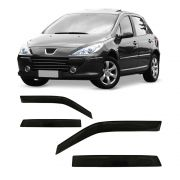 Calha de Chuva Peugeot 307 Hatch e Sedan 01 02 03 04 05 06 07 08 09 10 11 12 4 portas Fumê