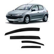 Calha de Chuva Peugeot 206 e 207 Hatch e Sedan 00 01 02 03 04 05 06 07 08 09 10 11 12 13 14 4 portas Fumê Marca Ibrasa