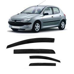 Calha de Chuva Peugeot 206 e 207 Hatch 00 01 02 03 04 05 06 07 08 09 10 11 12 13 14 4 portas Fumê