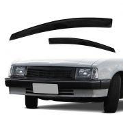 Calha de Chuva - Chevette Com Quebra Vento - 2 Portas - Modelo Preto / Fumê - Marca Ibrasa