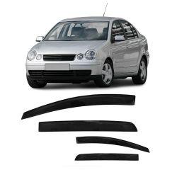Calha de Chuva Polo Sedan 02 03 04 05 06 07 08 09 10 11 12 13 14 4 portas Fumê