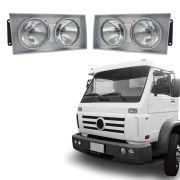 Farol Aro Cinza– Caminhões Volkswagem – Modelo Original – 00 01 02 - Marca Inov9
