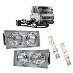 Farol Caminhões Vollkswagen  com Lâmpadas T10 13 LEDS – Modelo Original – 00 01 02 - Marca INOV9