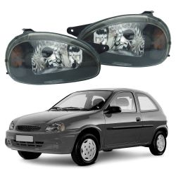 Farol Corsa Hatch Wagon Pick-up Sedan 94 95 96 97 98 99 00 01 02 03 Corsa Classic 03 04 05 06 07 08 09 10 Máscara Negra