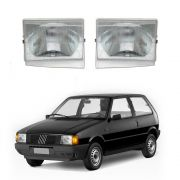 Farol  – Fiat Uno, Fiorino, Premio e Elba - Modelo Original / Máscara Cromada – 84 85 86 87 88 89 90 – Marca Inov9