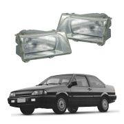 Farol modelo CIBIÉ – Ford Versailles e Ford Royale - Modelo Original – Máscara Cromada / Prata – 91 92 93 94 95 96 97 - Marca Inov9